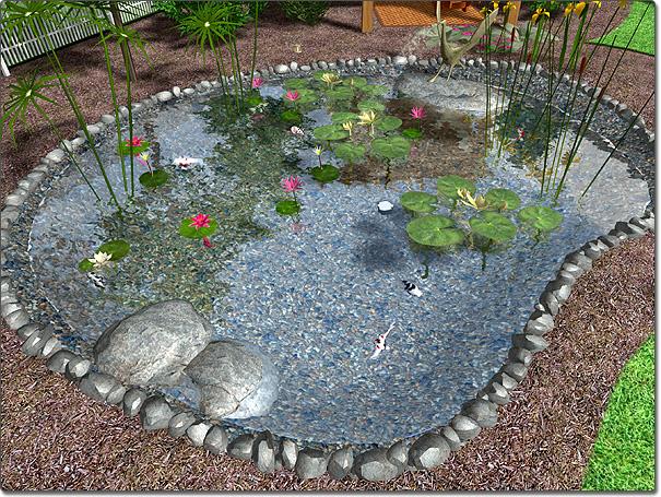 A kerti t p t s k zel sem olyan egyszer feladat for Pond layout and design